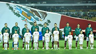 Jugadores de la Selección Mexicana antes del amistoso contra Costa Rica