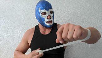 Blue Demon Jr. se prepara para una lucha