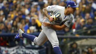 Julio Urías, durante un partido con Dodgers