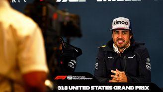 Fernando Alonso durante conferencia de prensa de la F1