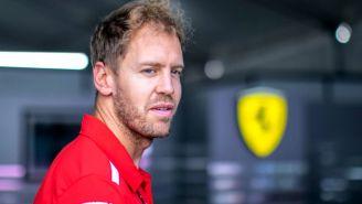 Vettel, previo a la conferencia de prensa en el GP de México