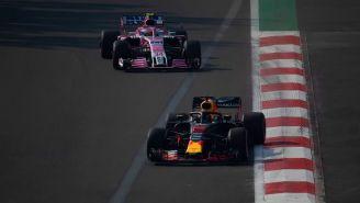 Los monoplazas durante las prácticas del GP de México