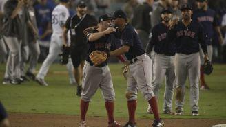 Los Red Sox festejan el tirunfo