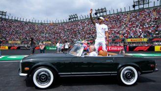 Hamilton, durante el Gran Premio de México