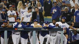 Dodgers durante el juego ante los Red Sox
