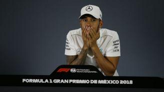 Hamilton durante la conferencia de prensa tras el GP de México