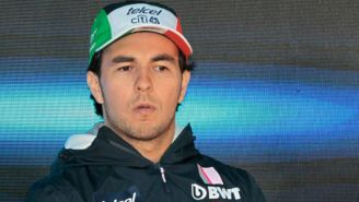 Checo Pérez en conferencia de prensa