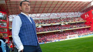 Patiño durante el partido de Pumas ante Toluca