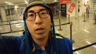 Isamu Kato en su llegada a Argentina