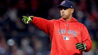 Alex Cora, durante juego de Red Sox