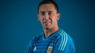 Agustín Marchesín en foto oficial de Argentina