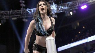 Paige durante una lucha en la WWE