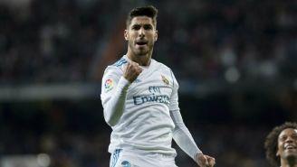 Asensio en la celebración del Real Madrid