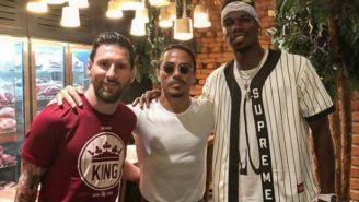 Messi, Salt Bae y Paul Pogba en el restaurante Nurs-Et en Dubai