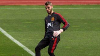 De Gea en una práctica con la selección de España