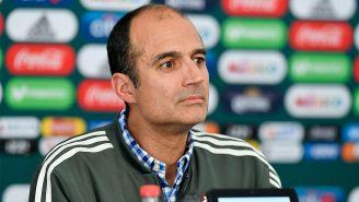 Guillermo Cantú, en una conferencia de prensa del Tri