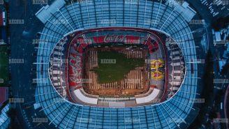 Así luce la cancha del Estadio Azteca