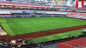 Vista de la cancha del Estadio Azteca