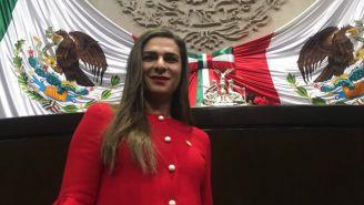 Ana Guevara en sesión del Congreso