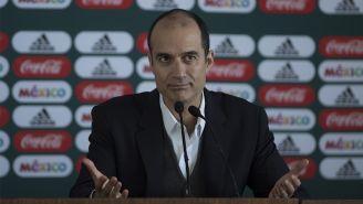 Guillermo Cantú, en conferencia de prensa en el CAR
