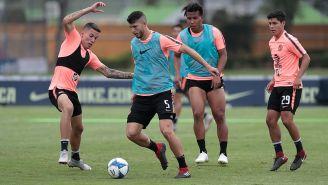 Guido Rodríguez en el entrenamiento de América