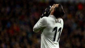 Bale se lamenta en un juego del Real Madrid