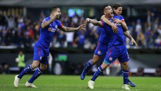 Caraglio festeja gol contra Rayados