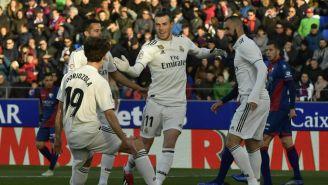 Gareth Bale festeja su gol contra Huesca