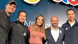 Martinoli, Guerrero, García y Zague durante el evento del Juguetón