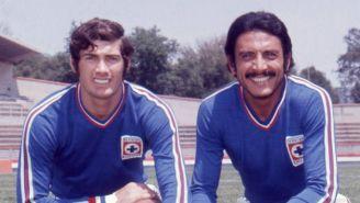 Alberto Quintano y el 'Kalimán' Guzmán cuando jugaban con el Azul
