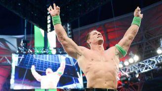 John Cena después de ganar una lucha