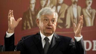 Andrés Manuel López Obrador en su primera conferencia de prensa