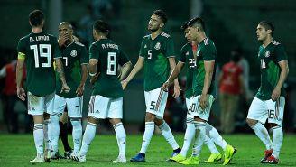 Seleccionados mexicanos tras el duelo contra Argentina
