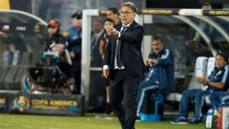 Tata Martino, durante encuentro frente a Chile en Copa América