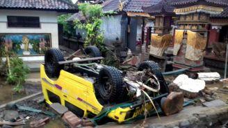 Desastre que dejó el impacto del tsunami en Indonesia