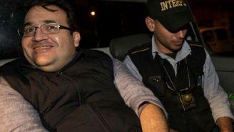 Duarte, al momento de ser detenido en Guatemala