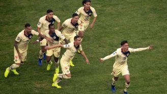 Edson celebra su anotación vs Cruz Azul en la Final del A2018