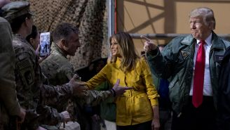 Donald Trump visitó a los soldados que se encuentran en Irak