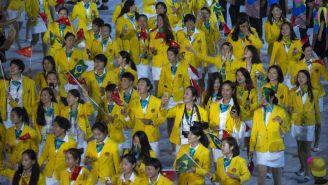 Delegación de China en la ceremonia de inauguración de Río 2016
