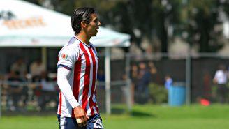 Benjamín Galindo Jr.,  durante un amistoso con Chivas