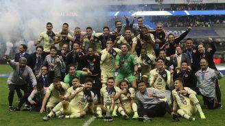 América celebra luego de conquistar el título del Apertura 2018