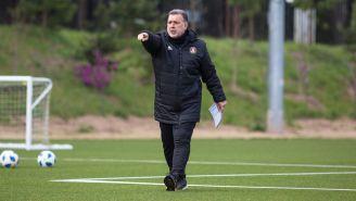 Tata Martino, durante un entrenamiento con el Atlanta United