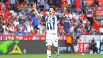 Molina festeja un gol con Rayados
