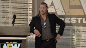 Chris Jericho en la conferencia de AEW