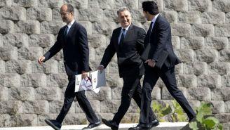 Cantú, Martino y Yon de Luisa arriban a presentación oficial del DT argentino