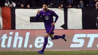 Néstor Araujo festejando su gol con el Celta de Vigo