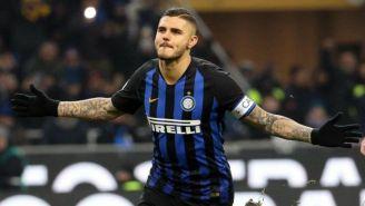 Icardi festeja un gol con el Inter de Milán