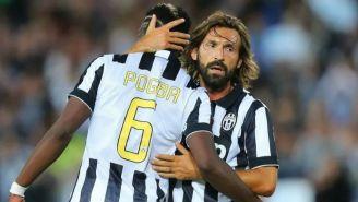 Pirlo y Pogba festejan anotación con la Juventus