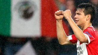 Chucky Lozano celebra triunfo con el PSV