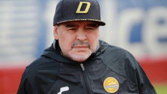 Diego Armando Maradona durante un encuentro ante Mineros